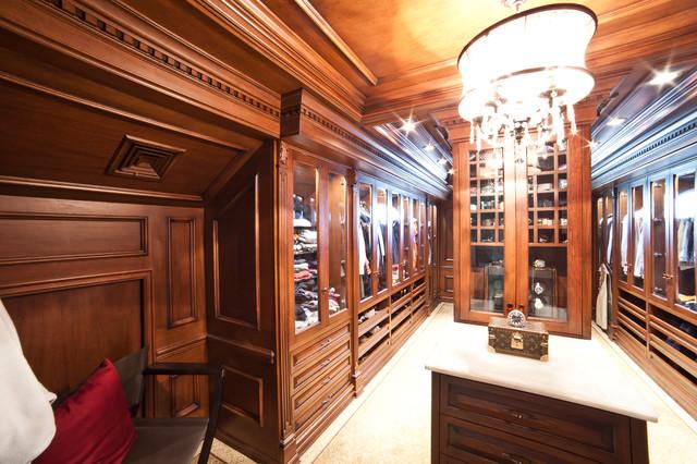 Residence NJ (Basement, Office, Bathroom) traditional-closet