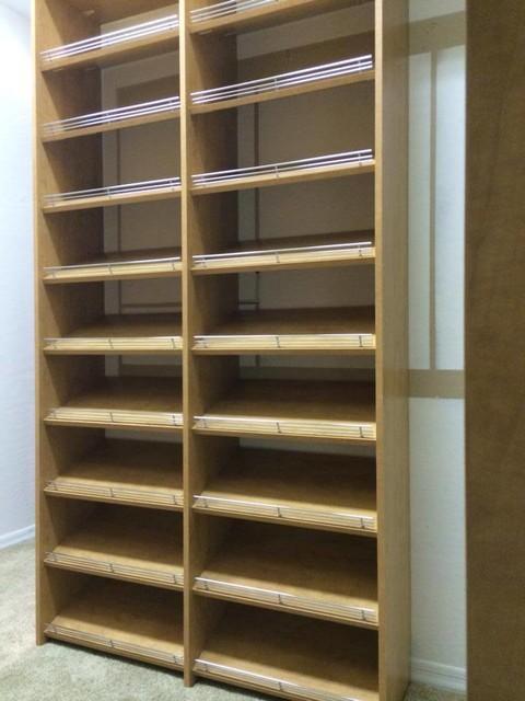 Closet, shoe rack modern-closet