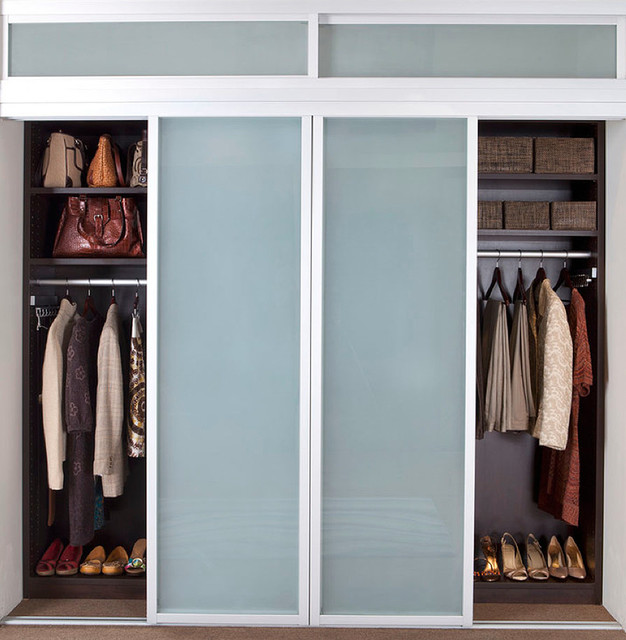 Closet Sliding Doors Modern Closet New York by transFORM Home