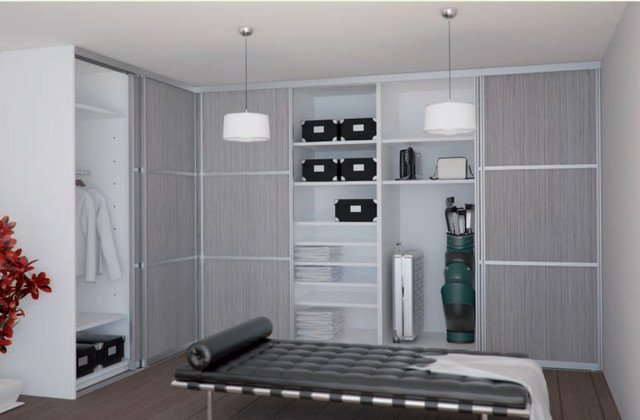 Closets modern closet new york by sliding door by for Sliding glass doors nyc