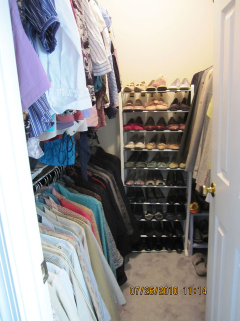 Clutter-Free Living - One Closet at the Time. traditional-closet