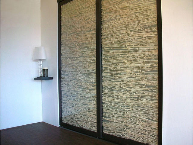 Coastal Branch Stack   Sliding Closet Doors / Room Dividers Beach Style  Closet