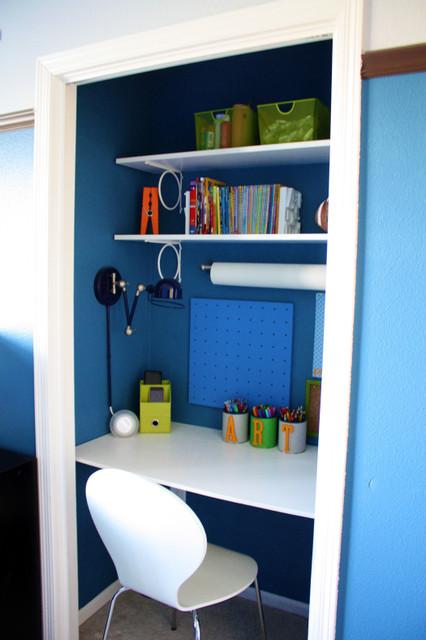 Boys Closet Study Space contemporary-closet