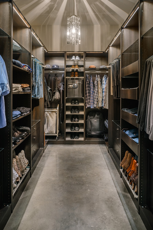 Amazing Modern Walk In Closet Contemporary Closet By Houston Interior Designers Decorators Laura U