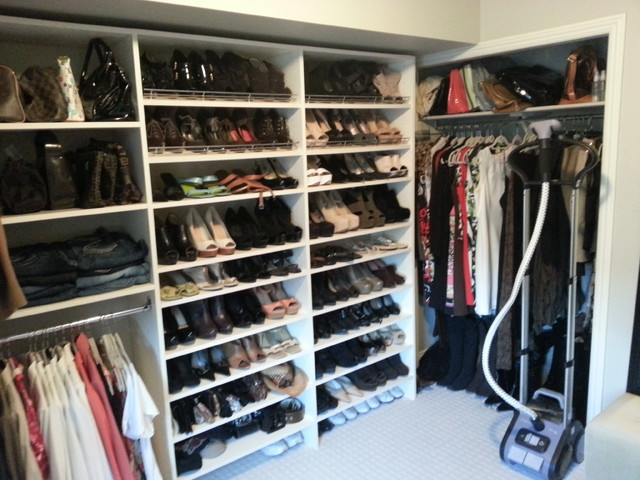 Converted Bedroom To Walk In Closet For The Shoes Contemporary Closet Calgary By Kwik