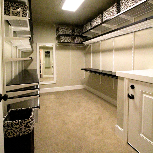 Creative Hidden Indoor/Outdoor Dog Kennel - Traditional - Closet ...