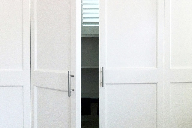 Custom Closet Doors Craftsman Closet Orange County By Moss