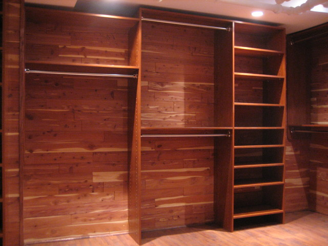 Custom Closet in basement - Traditional - Closet - other metro - by Custom Storage Solutions