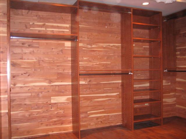 Nice Custom Closet In Basement Traditional Closet