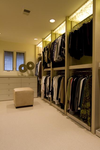 Custom Closet Interior Modern Closet Kansas City