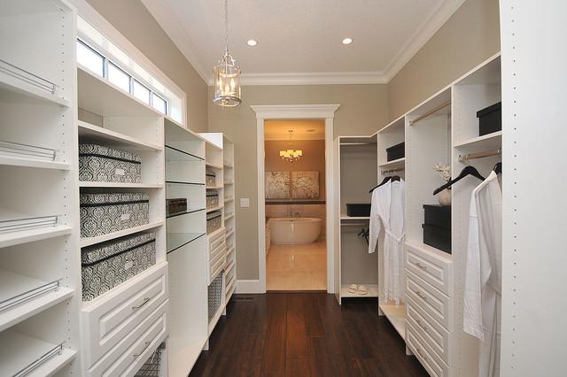 Custom Closet Shelving Traditional Wardrobe