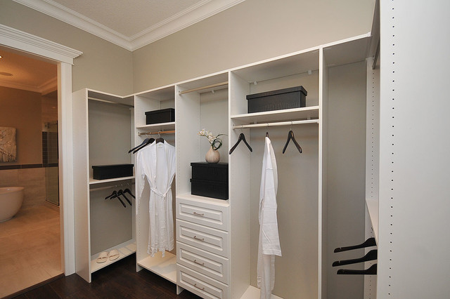 custom closet shelving traditional closet edmonton. Black Bedroom Furniture Sets. Home Design Ideas