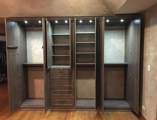 Custom Closet With Inside Lighting