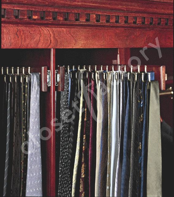 Custom designed Man's Tie Cabinet - Traditional - Closet - los angeles - by Kay Wade, Closet Factory