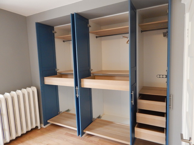 Custom-Fitted IKEA Pax Wardrobe Cabinetry - Contemporary ...