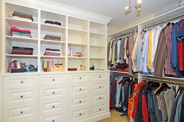 Custom Home #1 traditional-closet