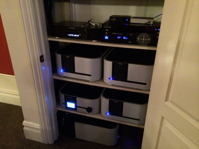 Custom Installation Audio Equipment Closet Contemporary Closet New York By Audio Den