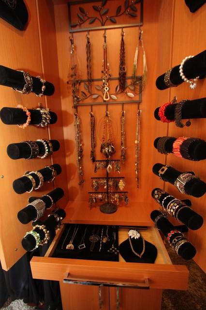 Custom Jewelry Storage Traditional Closet