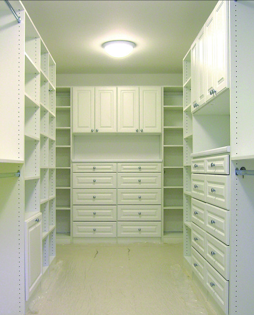 Custom Master Bedroom Closets traditional-closet