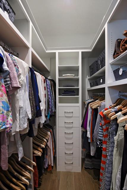 Custom Master Bedroom Walk In Closet Traditional Closet Jacksonville By Organized Home