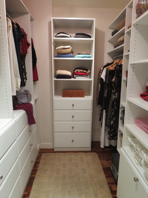Small Size Walk In Closet Ideas   Custom Walk In Closet Traditional Closet  New York