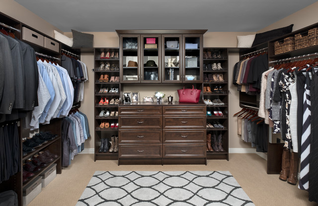 Custom Walk-In Closets - Traditional - Wardrobe - Other - by Mesa Closet Desig