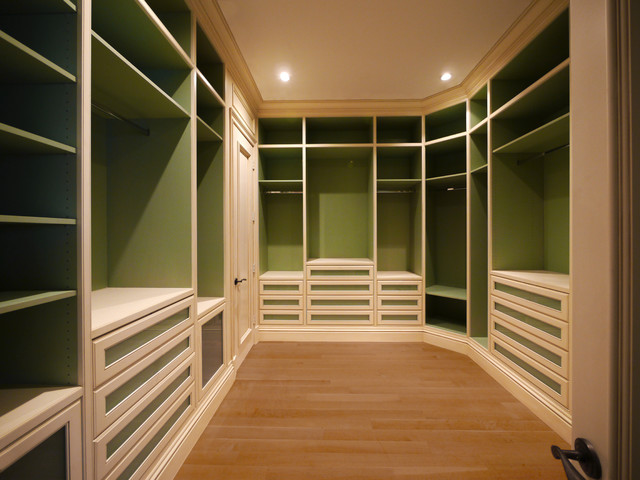 Custom walk in master closet Master bedroom closet designs
