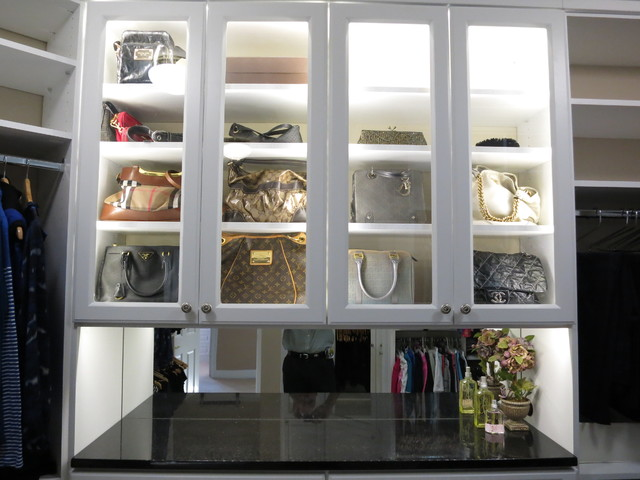Custom White Walk-in Closets traditional-closet