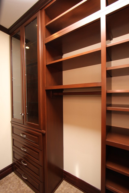 Custom Wood Closets Traditional Closet Orange County
