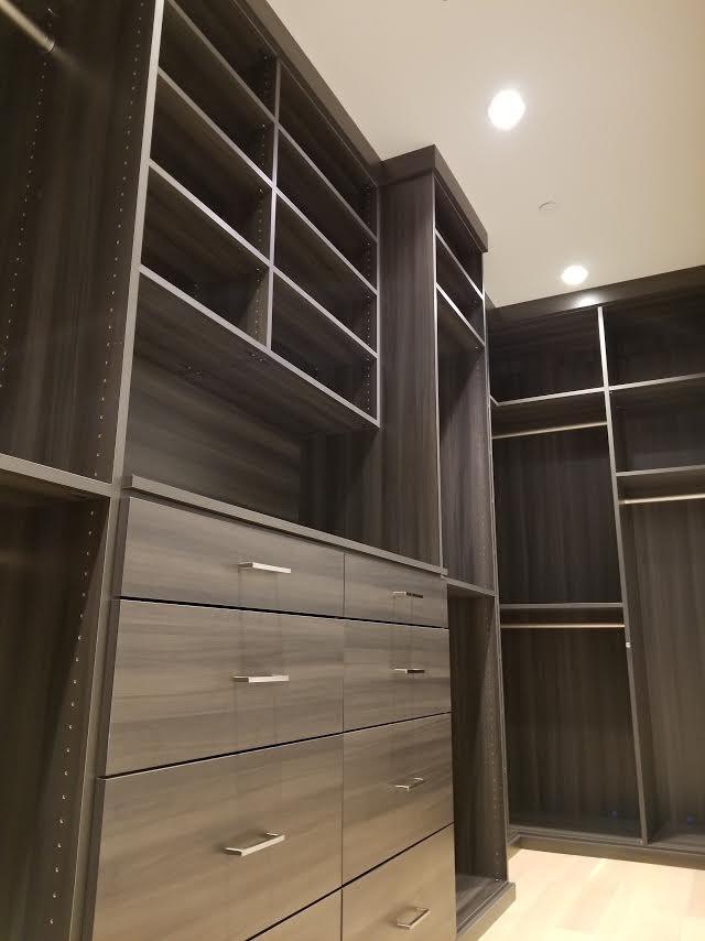 Dark Wood Custom Closet