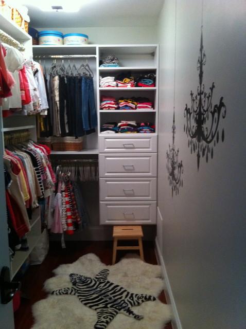 Charming Daughteru0027s Walk In Closet Eclectic Wardrobe