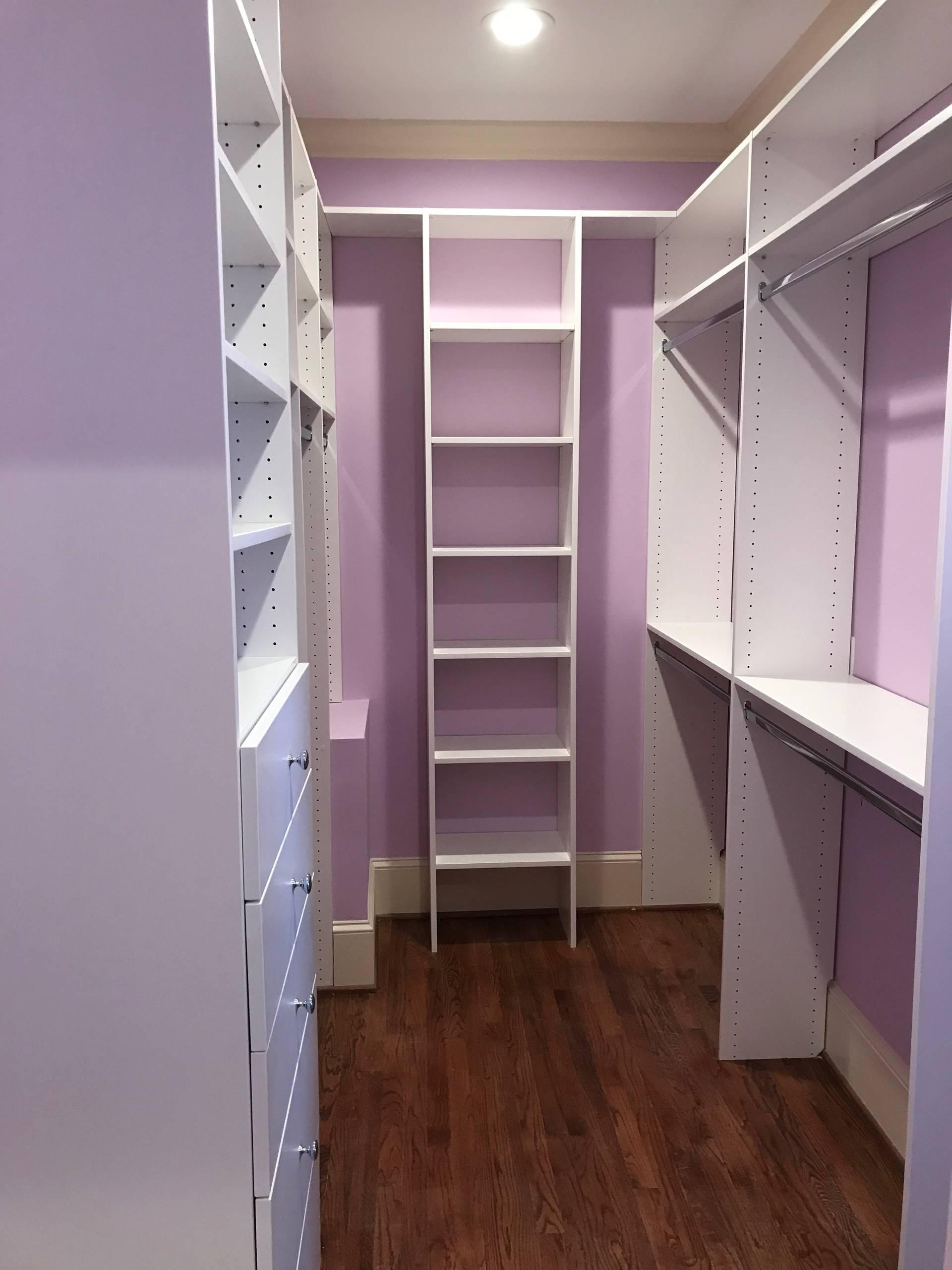 Daughters Walk-in Closet & Basement Storage Closet