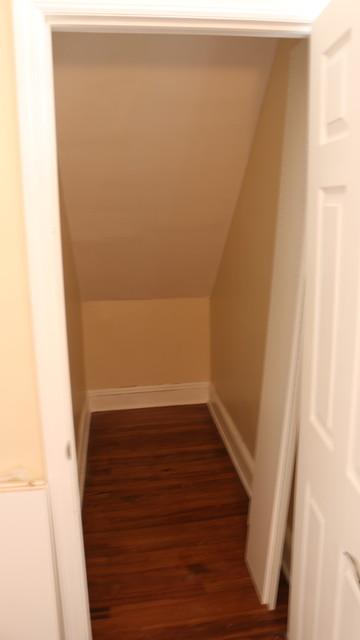 Deep Narrow Angled Ceiling Walk In Closetcontemporary Closet New York