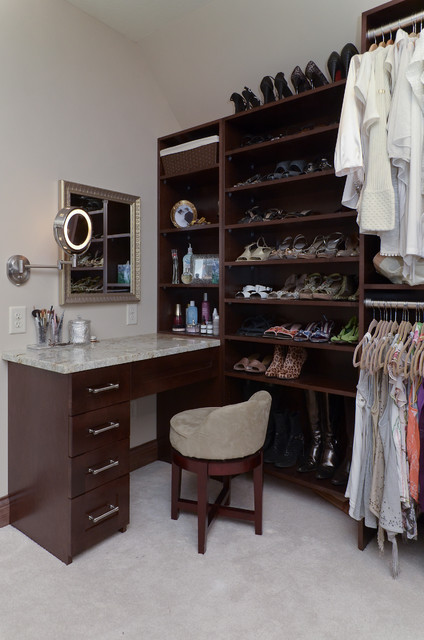 Deer Trail Master Suite, Bath and Closet Remodel traditional-closet