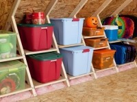 Add ready-made shelves in your attic