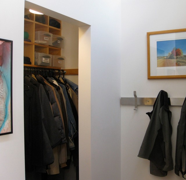 Bon Doorless Coat Closet With Shelving Cubbies Modern Closet