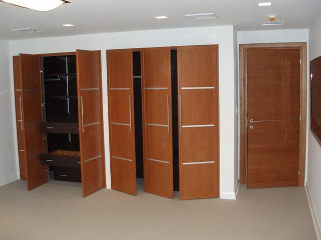 Doors make up the room contemporary-closet