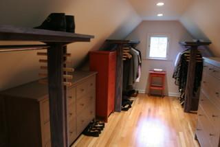 Dormer Closet Shelves W Folly Hanging Rods Modern