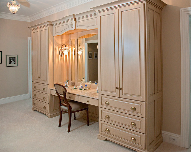 Double Armoire Makeup Station Traditional Closet Boston By Brunarhans