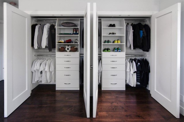 Elegant Double Reach In Closets In Saratoga Traditional Closet