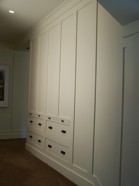 Drawers Built Into Wall Paneling Traditional Closet