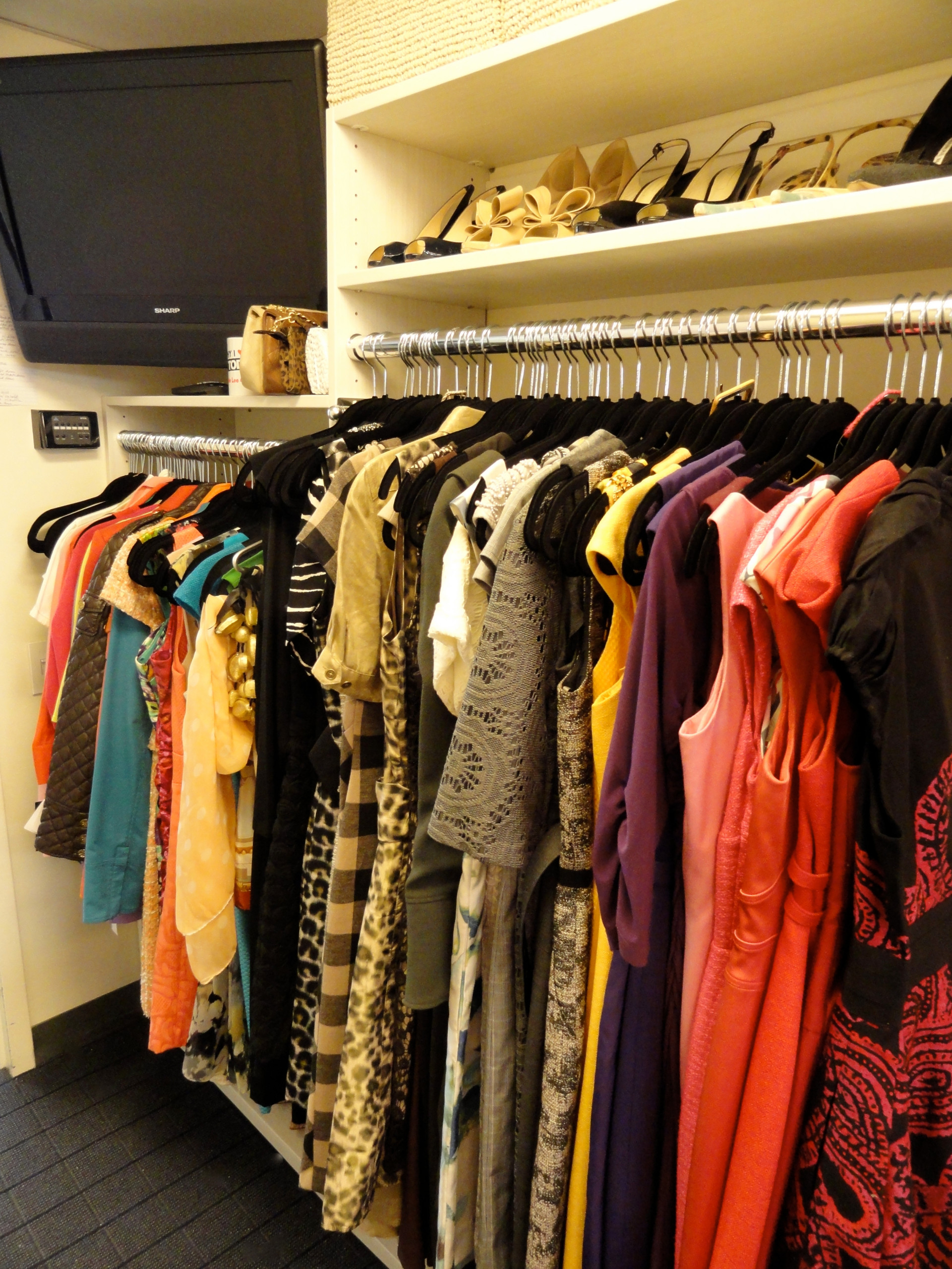 Dressing Room reorganized and styled at NBC