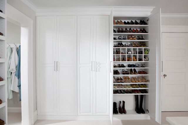 Dressing Room Shoe Closet traditional-closet