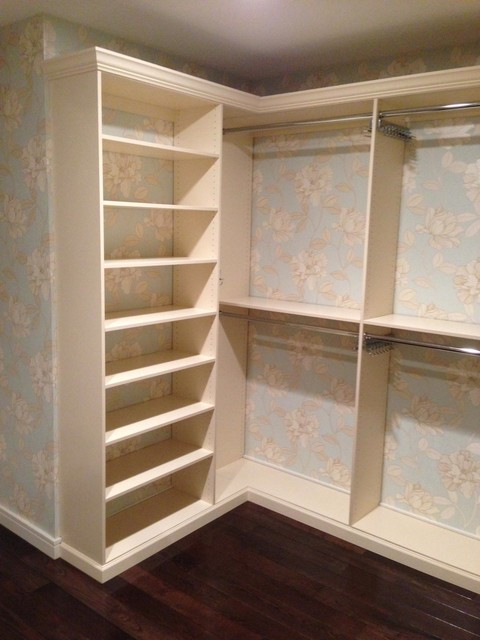 Dressing Room Tribeca Before and After traditional-closet