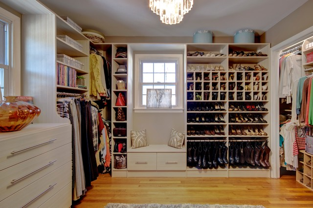 Pleasing Dressing Room Walk In Closet In Spring Blossom With Window Machost Co Dining Chair Design Ideas Machostcouk