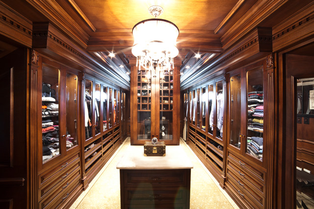Residence NJ (Basement, Office, Bathroom) traditional-closet