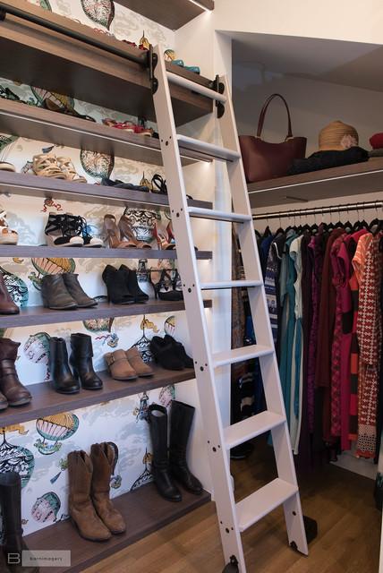 Eclectic Custom Closet and Dressing Room modern-closet