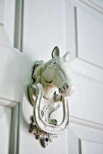 Equine Door Knocker Traditional Closet