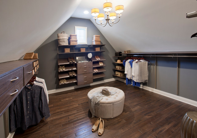 Nice Inspiration For A Timeless Gender Neutral Dark Wood Floor Dressing Room  Remodel In Boston With