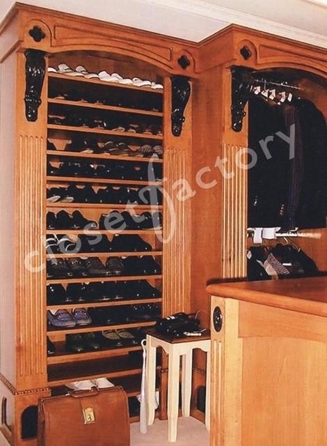 European Style two tone closet traditional-closet
